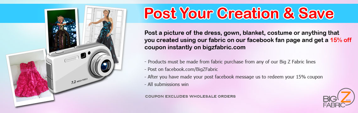 Post Your Sequins Fabric Creation & Save