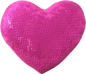 Valentine's Day Sequins Fabric Heart