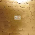 Big Dot Sequin Mesh Fabric Matte Champagne