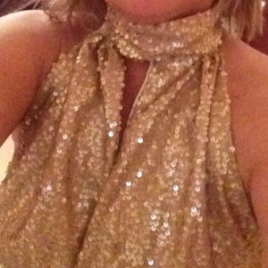 Gorgeous Shiny Sequins Blouse