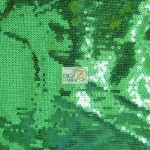 St. Patrick's Day Mini Disc Sequins Fabric Shiny Green