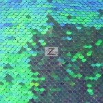 St. Patrick's Day Pearl Sequins Fabric Green