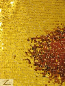 Gold Drop Sequins Fabric
