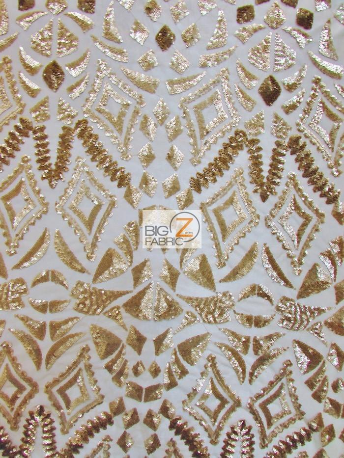947e0a675f ... Aztec Sequins Dress Lace Fabric Matte Gold ...