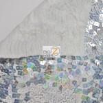 Hologram Square Sequins Spandex Fabric Backing