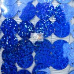 Big Dot Sequin Hologram Mesh Fabric Royal