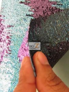 Wavy Flamingo Sequins Nylon Decorative Costume Fabric Thickness