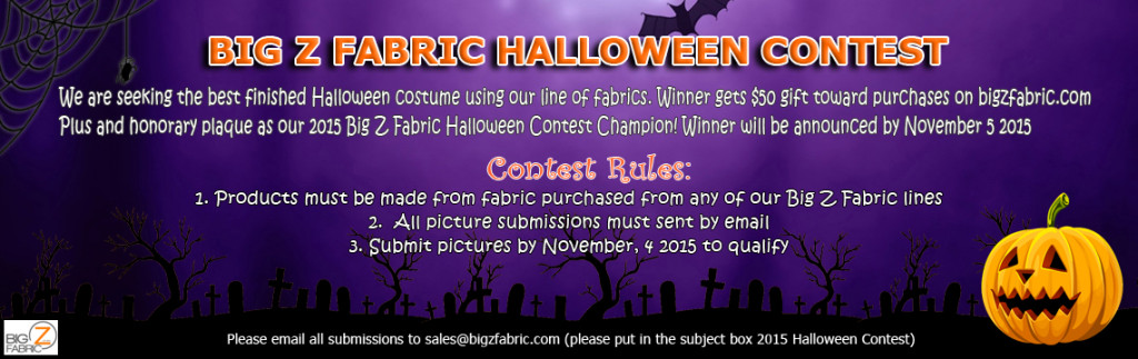 2015 Sequins Fabric Halloween Contest