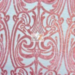 Angel Damask Sequins Sheer Lace Fabric Coral