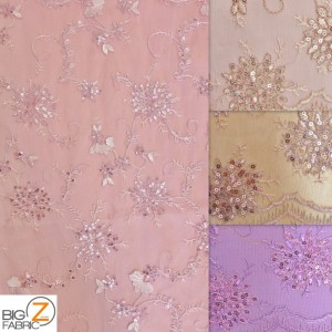 Appealing Snowflake Sequins Dress Fabric