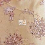 Appealing Snowflake Sequins Dress Fabric Gold