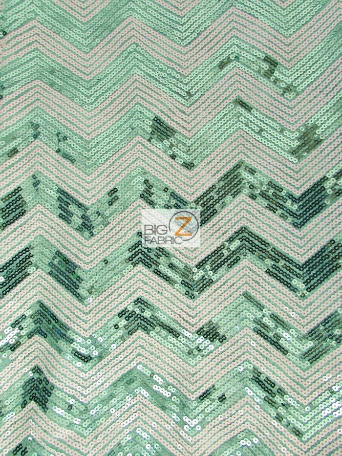 Chevron Zig Zag Sequins Mesh Fabric Sequins Fabric