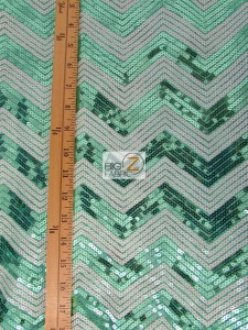 Chevron Zig Zag Sequins Mesh Fabric Measurement