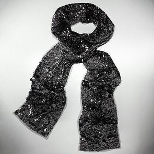 Sequin Velvet Fabric Fashion Scarf