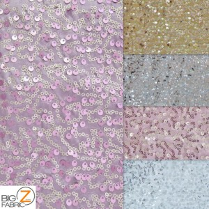 Double Rain Drop Sequins Taffeta Fabric