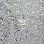 Double Rain Drop Sequins Taffeta Fabric Champagne