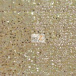 Double Rain Drop Sequins Taffeta Fabric Gold