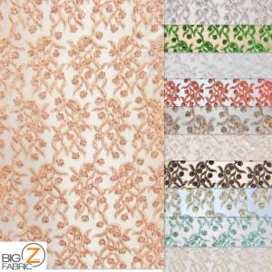 Divine Floral Sequins Mesh Fabric