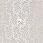 Divine Floral Sequins Mesh Fabric Beige