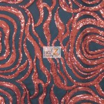 Elegant Formal Sequins Fabric Red