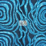 Elegant Formal Sequins Fabric Turquoise