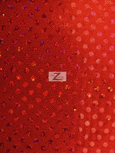 Red Sequins Spandex Fabric