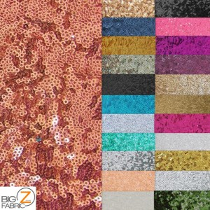 Mini Disc Sequin Nylon Mesh Fabric Colors
