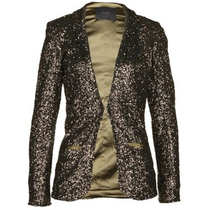 Shiny Sequins Fabric Blazer