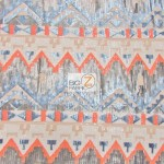 Egyptian Sequins Mesh Fabric Desert