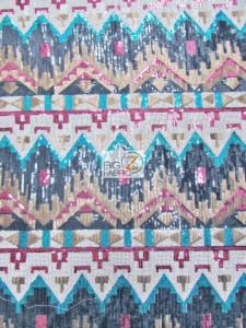Egyptian Sequins Mesh Fabric Feminine