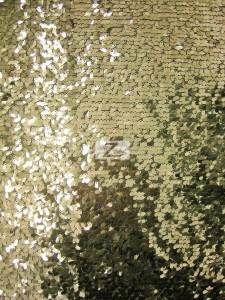 Light Gold Shiny Drop Sequins Fabric