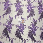 Angel Wings Floral Lace Sequins Fabric Purple