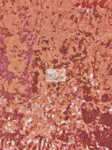 Mini Disc Sequin Nylon Mesh Fabric Dusty Rose