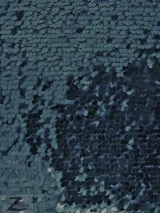 Navy Blue Shiny Drop Sequins Fabric