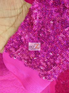 Ocean Wave Shiny Sequins Spandex Fabric Close Up