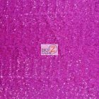 Ocean Wave Shiny Sequins Spandex Fabric Fuchsia