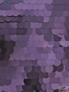 Matte Purple Big Dot Sequins Mesh Fabric