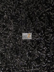 Scale Sequins Mesh Fabric Black