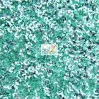 Scale Sequins Mesh Fabric Mint