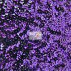 Scale Sequins Mesh Fabric Purple