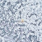 Scale Sequins Mesh Fabric Silver
