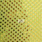 Small Confetti Dot Sequin Fabric Yellow