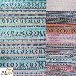 Tribal Pocahontas Sequins Multi Color Fabric