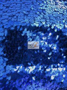 Royal Blue Shiny Drop Sequins Fabric