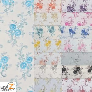 Stunning Dahlia Floral Sequins Lace Fabric