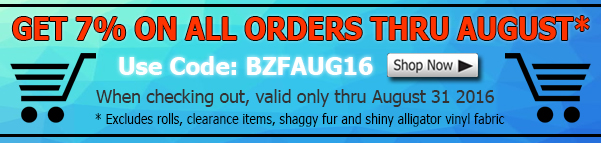 August Big Z Fabric Sequins Discount