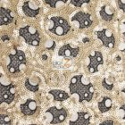 Circular Bombshell Sequins Lace Fabric Gold