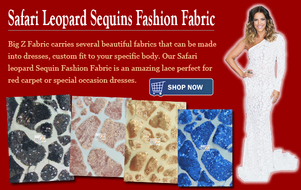 Safari Leopard Sequins Fashion Fabric