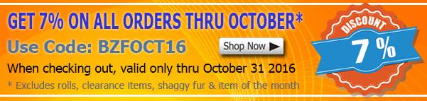 October 2016 Sequins Fabric Discount