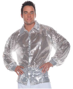 Sequin Disco Costume Shirt